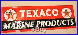 Large 42'' Embossed Texaco Marine Oil Vintage Style Signs Man Cave Decor Gas