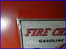 Large Vintage TEXACO GAS PUMP DISPLAY & Shelf- Fire Chief Gasoline HTF