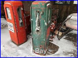 Martin & Schwartz Model 80 Gas Pump Mobil Sinclair Socony Conoco Texaco Marine