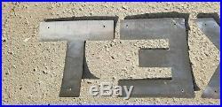 McColl Frontenac TEXACO Curved 12 Aluminium Pump/Tanker Truck Letters Gas&Oil