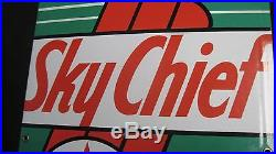 NR MINT! 1947 Vintage TEXACO SKY CHIEF Old Gas Pump Porcelain Sign Very Rare