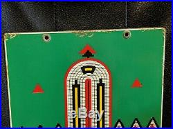 Old Indian Texaco PPP Porcelain Gas Pump Plate Sign TAC AUTHENTIC Baby 8 x 12