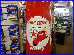 Original 10' Restored Wayne 10 Gallon Visible Texaco Fire Chief Gas Pump