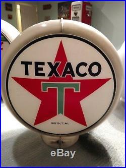 Original 1940s Big T Texaco Gas Pump Globe Capco Lite Co. Body