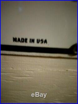 Original 1955 Texaco Fire Chief Porcelain Medal Gas Pump Sign Dated