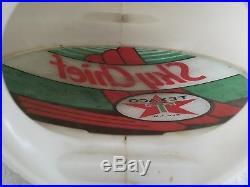 Original 50's Texaco Sky Chief Gas Pump Globe Capcolite 13 1/2 Glass Lenses