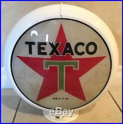 Original Texaco Gas Pump Globe Base And Lenses