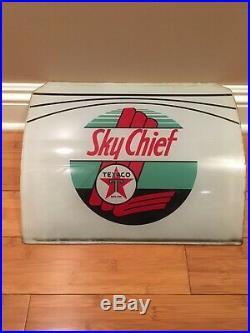 Original Texaco Sky Chief National A38 Gas Pump Ad Glass