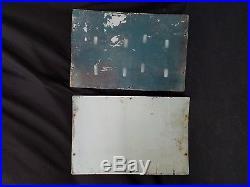 Original Texaco Sky Chief Porcelain Gas Pump Matching Plates 18x12 (lot of 2)