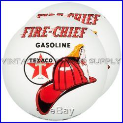 Pair of Texaco Firechief 15 Gas Pump Lenses (GL314)