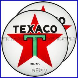 Pair of Texaco Star 15 Gas Pump Lenses (GL311)