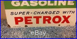 Pre owned1962 Texaco Sky Chief Gasoline Gas Pump Plate 18 Porcelain Metal Sign