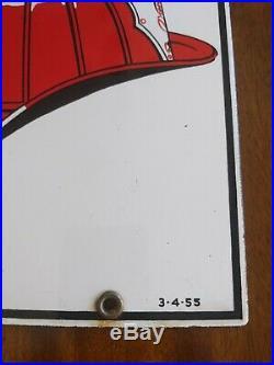 RARE! 8-12 Texaco Fire Chief Gas Pump Sign Porcelain Original 1955 Plate