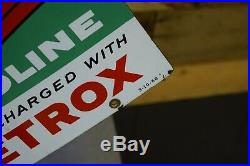 RARE SMALL 1960 TEXACO SKY CHIEF Pump Plate PORCELAIN Sign Gas Oil Advertising