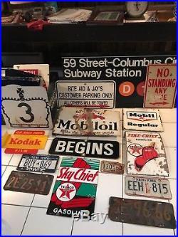 RARE VINTAGE 1949 TEXACO SKY CHIEF GAS PUMP PLATE SIGN porcelain