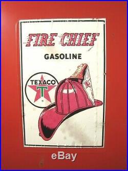 Rare Vintage Texaco Fire Chief Gasoline Gas Pump Metal Shelf Cabinet