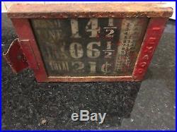 Rare Vintage Texaco Visible Gas Pump Original Price Box