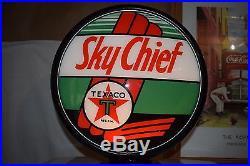 Restored 1950's Texaco Sky Chief A. O. Smith Model L-3 D 2 Sided Gas Pump