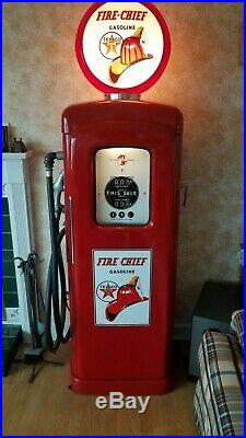 Restored Authentic 50's style Texaco Fire Chief gas pump