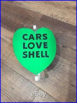 Shell Gasoline Gas Pump Spinner Advertising Sign
