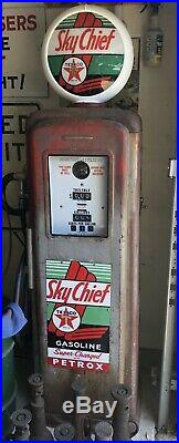 Southwest Bonham Model 45 Gas Pump With Original Texaco Pump Plate Signs