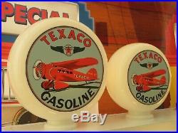 TEXACO Aviation Art Deco Style Gas Pump Globes Selection Petrol Pump Globe