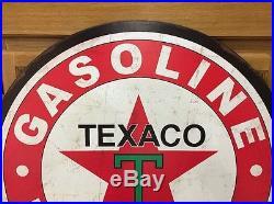 TEXACO GAS Large Metal Petroleum Motor Oil Gas Pump Vintage Style Star Wall