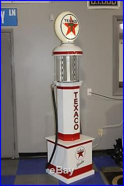 TEXACO GAS PUMP 1920s reproduction EXCELLENT Beautiful with Great Colors Lighted
