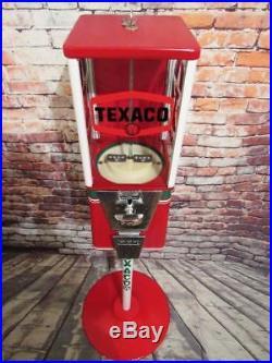 TEXACO GAS PUMP gumball machine candy dispenser bar game room 25 cent