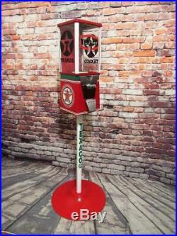 TEXACO GAS PUMP gumball machine candy dispenser bar game room decor novelty