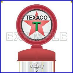 TEXACO GAS STATION VISIBLE GAS PUMP HUGE PRINTED BANNER SIGN ART MURAL 24 x 96