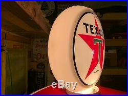 TEXACO Oil Gas Pump Globe Sign Rare Original Marked C Lenses In Capco Body