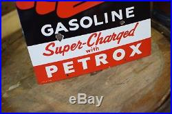 TEXACO Petrox Chief Porcelain Gas Pump Plate Sign Original Station Advertising