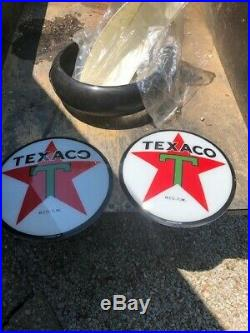 TEXACO STAR GAS PUMP GLOBE with 2 frames