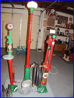 Texaco Antique Vintage Gas Pump curbside pump island