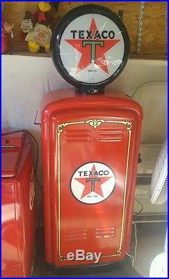 Texaco Antique gas pump restored