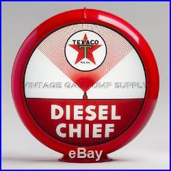 Texaco Diesel Chief 13.5 Gas Pump Globe with Red Plastic Body (G193)