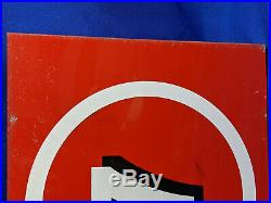 Texaco Double Sided Number Gas Pump Flange Sign #7 VTG Metal RARE Red White