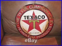 Texaco Enamel or Porceline Gas Pump Sign