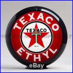 Texaco Ethyl 13.5 Gas Pump Globe with Black Plastic Body (G194)