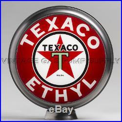 Texaco Ethyl 13.5 Gas Pump Globe with Steel Body (G194)