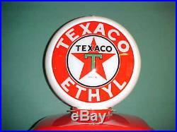 Texaco Ethyl Gas Pump Globe