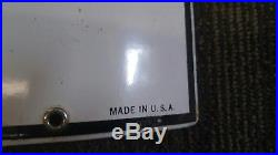 Texaco FIRE CHIEF Porcelain Sign Visible Gas Pump Plate Curved dated 3-40