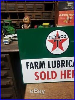Texaco Farm Lubricants Sign Gas Oil Car Truck Dealer Pump Station