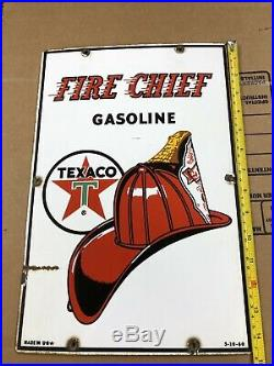 Texaco Fire Cheif Gas Pump Porcelain Signs Rare Small Version