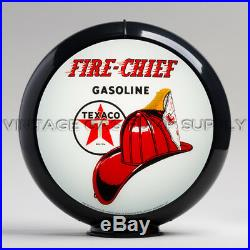 Texaco Fire Chief 13.5 Gas Pump Globe with Black Plastic Body (G195)