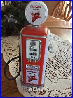 Texaco Fire Chief Gas Pump Model Bank Cedar Rapids, Iowa 8 tall