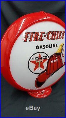 Texaco Fire Chief Gasoline Plastic Reproduction Gas Pump Sign Capolite #216
