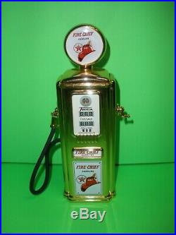 Texaco Fire Chief Gold 1950's Tokheim Gas Pump Diecast Bank