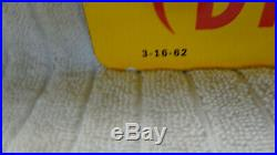 Texaco Fuel Chief 1 Porcelain Yellow Gas Pump Plate Sign